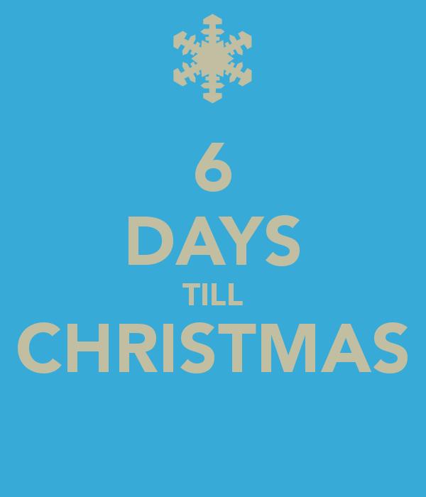 Christmas Countdown—6 Days Till Christmas | VictoriaHecnar.com