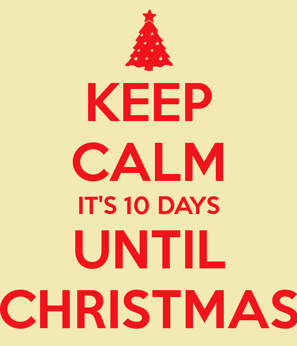 christmas countdown10 days till christmas - How Many More Days Until Christmas 2014