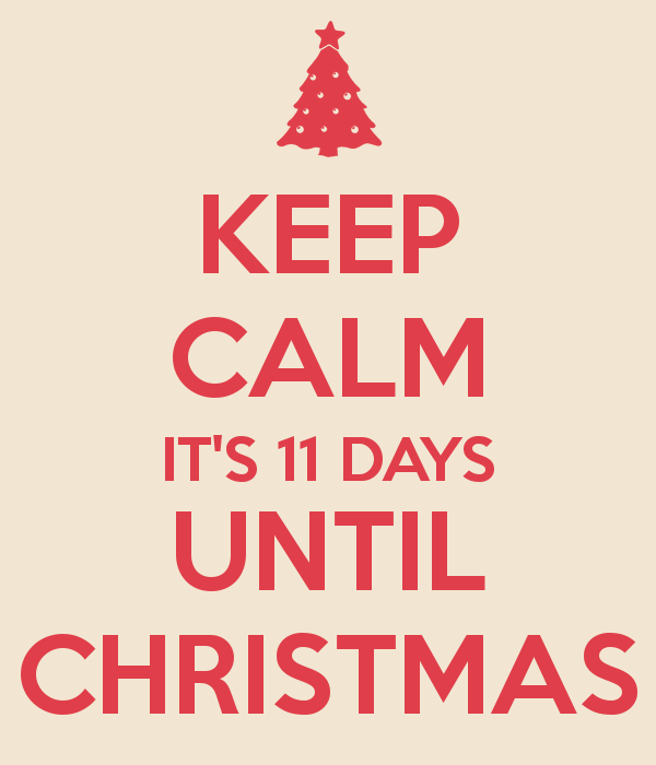 Image result for 11 days till christmas