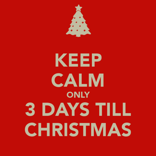 christmas countdown3 days till christmas - Number Of Days Until Christmas